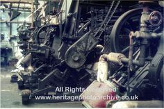Hardcastle's, Radcliffe, Diagonal printing machine  A range of diagonal steam engines and associated textile printing
