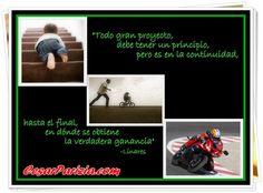 Proyecto= Objetivo+Acción+Continuidad ==> http://CesarParizia.com
