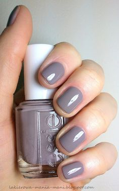 Essie Chinchilly // wearing this today! I LOVE it! Perfect greyish - purpleish - taupe. My new fav