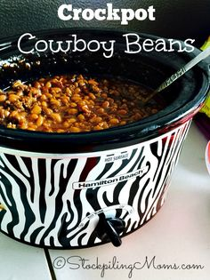 Crockpot Cowboy Beans recipe is the best and a must have at a barbeque this summer!