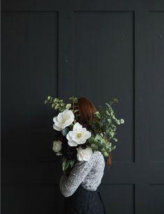 Faux White Magnolia Stem at Rose & Grey