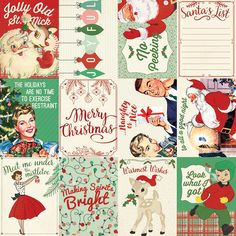 Retro Christmas Paper 6 - Authentique - PRE ORDER