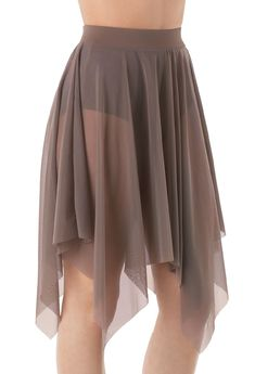 Mesh Handkerchief Hem Skirt