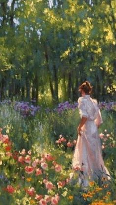 In the garden...Richard Johnson. Bear Paintings, Painting People, Watercolor Sketch, Art Themes, Classical Art, Pink Sky, Pretty Wallpapers, Colorful Drawings, Pictures To Draw