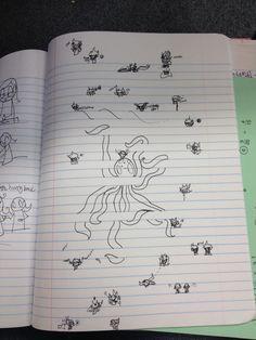 Oops I homestucked at school octopus too
