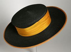 Probably United States  Woman's Picture Hat, circa 1910-1920  Costume/clothing accessory/headwear, Straw,