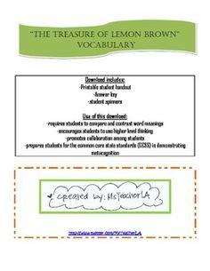 treasure lemon brown essay