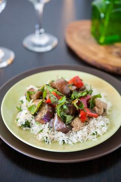 Chicken and Eggplant Stir Fry from @Angie Wimberly McGowan (Eclectic Recipes)