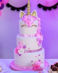 Orange cake without flour - HQ Recipes 13 Birthday Cake, Unicorn Themed Birthday Party, Unicorn Birthday Cakes, Unicorn Party, Bolo Barbie, Cute Desserts, Girl Cakes, Cute Cakes, Party Cakes
