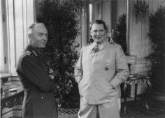 Romanian dictator Gen. Ion Antonescu and Reichsmarschall Hermann Goering during a meeting at the Belvedere Palace in Vienna, March 5, 1941.