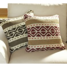 Trevor Fair Isle Knit Pillow Cover found on Polyvore