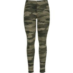 Camo print legging (€16) ❤ liked on Polyvore featuring pants, leggings, bottoms, jeans, camo pants, patterned pants, camouflage pants, camo print leggings and camouflage leggings