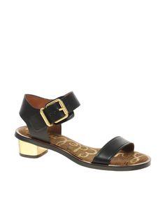 Sam Edelman Trina Gold Heel Sandals