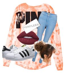 """""""Untitled #24"""" by dd4lfan1 on Polyvore featuring New Look, adidas Originals, Lime Crime and River Island"""