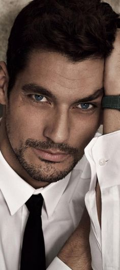 David Gandy :)  He is just so beautiful. Those mesmerising oval blue eyes. The epitome of masculine strength and beauty.