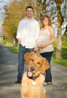 maternity photo with dog -- can't imagine Hobie or Bella would sit still long… Newborn Pictures, Maternity Pictures, Pregnancy Photos, Baby Pictures, Maternity Poses, Maternity Photography, Family Photography, Photography Ideas, Fall Maternity