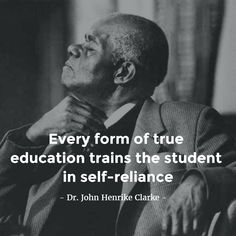 Baba Clarke....there's many a day where I wish I could still here one of your lectures. Rest in peace and power.