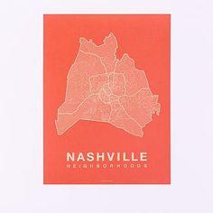 Native Maps - Nashville Print #westelm