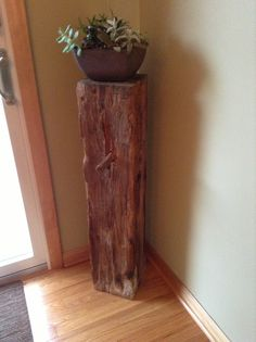 Plant stand - made out of a railroad tie!
