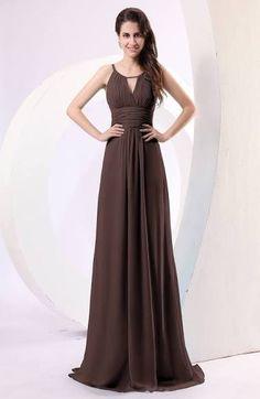 Chocolate Brown Dress Evening Long Event Dresses By Mimetik