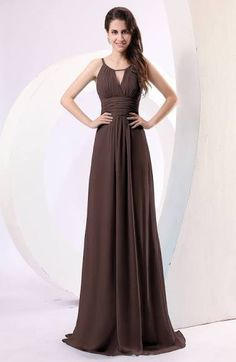 chocolate brown evening gowns, long brown formal dresses, prom ...