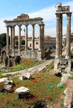 The Roman Forum,Rome,Italy. Such a beautiful and impressive place thousands of years later, in ruins, but still wonderful. Rome is one of my favorite cities! Places Around The World, Oh The Places You'll Go, Great Places, Places To Travel, Beautiful Places, Places To Visit, Around The Worlds, Travel Destinations, Travel Tips