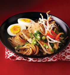 Clean Ramen Bowls - Clean Eating Mag. sub coconut aminos instead of soy sauce