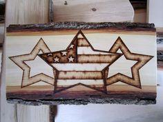 Rustic decor - American flag art - Primitives Patriotic Americana via Etsy