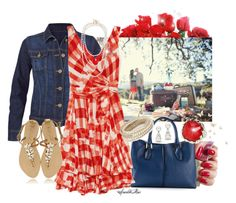 """""""Summer Picnic"""" by sparklemar ❤ liked on Polyvore featuring Dolce&Gabbana, CAbi, Tod's, Oscar de la Renta, Henri Bendel, Tiffany & Co., Chan Luu and Stephen Webster"""