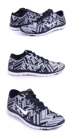 $199.99 - Nike Women's Free 5.0 TR Fit 4 Print Black Metallic Silver White Volt 629832-017 (11) #shoes #nike #2016