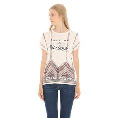 T-shirt etnica con frange - Collezione T-SHIRT - Pimkie Italia
