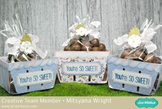 Berry Bushel Treat Baskets by Mitsyana Wright using Lori Whitlock svg digital cut files for Silhouette Cameo, Cricut and Sizzix Eclipse Berry Baskets, Echo Park Paper, Silhouette Cameo Projects, Team Member, Nice Things, Berries, Sweet Treats, Cricut, Gift Wrapping