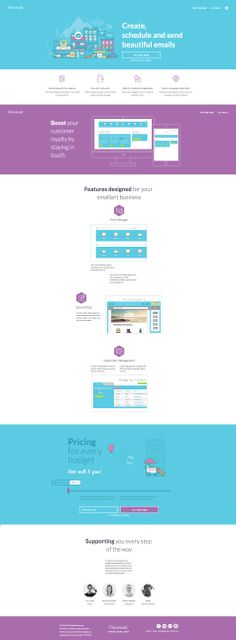 Another nice flat designed site using questionable a color palette. http://flowmail.com/