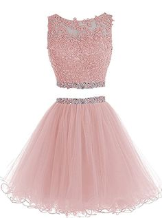 HTYS Beaded Two Pieces Prom Dresses Applique Short Homecoming Dresses Dama Dresses, Prom Dresses 2015, Cute Prom Dresses, Quince Dresses, Quinceanera Dresses, Dresses For Teens, Pretty Dresses, Beautiful Dresses, Beaded Dresses