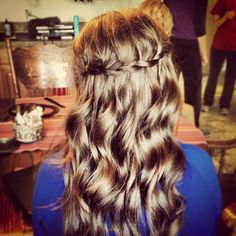 Waterfall braid for winter formal. Hair by Julie Meacham