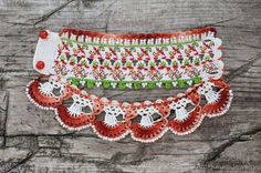 Crochet Bracelet Cuff. Bulgarian Embroidery от KaterinaDimitrova