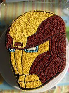 ideia de confeitar bolo do homem de ferro