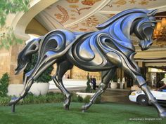A horse sculpture outside the Wynn in Las Vegas.