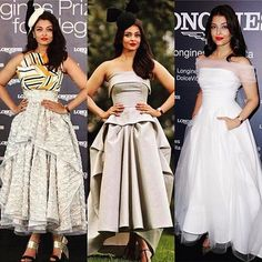 graziaindia: For a @longines event Aishwarya Rai Bachchan gave us three @toni_maticevski looks. ( @afashionistasdiaries)