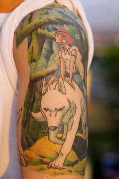 Mononoke tattoo.