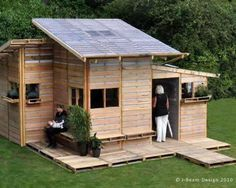 Here's a link with actual plans on how to make a pallet house. If not a house, you can easily make it the same exact way and use it as a shed, a chicken coop, storage, garage or whatever else.   http://​www.tinypallethouse.com/2008/​08/add-windows-and-a-door/