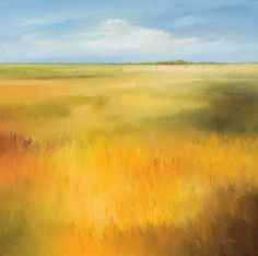 yellow field landscape print | Yellow field I