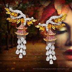 Van Cleef & Arpels Chinese Pagoda Earrings (=)