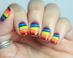31 Day Nail Art Challenge - Day 9: Rainbow Nails