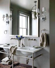 double sinks, single mirror