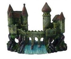 2-Castles-Waterfall-Bridge-Aquarium-Decoration-Fish-Tank-Cave-Ornament