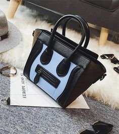 Find More Crossbody Bags Information about 2016 new fashion color smiling face pack stopping bump splicing medium bats single shoulder bag bag lady handbag bag,High Quality bag knife,China bag ds Suppliers, Cheap handbag green from LikeGirl Store on Aliexpress.com