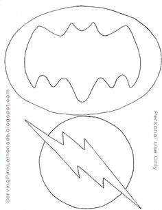 Templates for the super hero masks, batman and flash logos. ** used for a guide for the templates. Batman Party, Superhero Birthday Party, Boy Birthday, Superhero Classroom, Superhero Logos, Birthday Parties, Royal Icing Templates, Cake Templates, Logo Templates