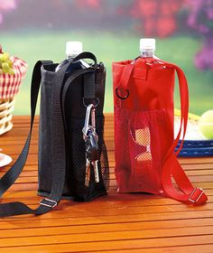 Water Bottle Holders- This has to be easy to make,