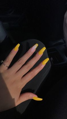 Makeup class philippines summer acrylic nails, acrylic nails yellow, acrylic nail designs for summer Acrylic Nails Yellow, Summer Acrylic Nails, Best Acrylic Nails, Acrylic Nail Designs, Nail Summer, Acrylic Nail Art, Aycrlic Nails, Coffin Nails, Cute Nails